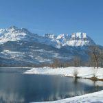 Montagne les quatre têtes  Vue du lac De Passy