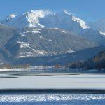 Le lac de Passy sous la glace